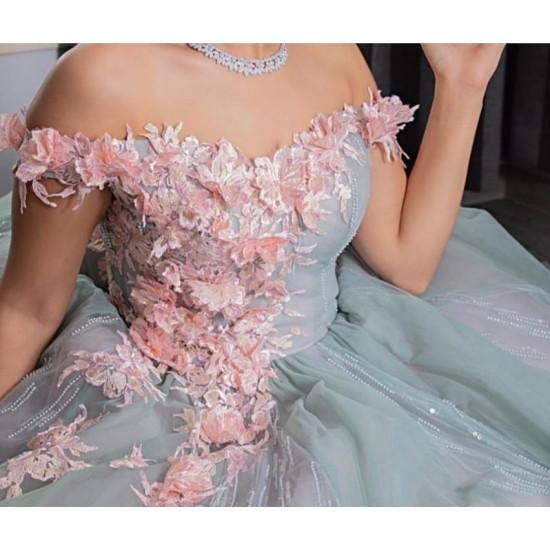 فستان شبكة( ملكة) ورد