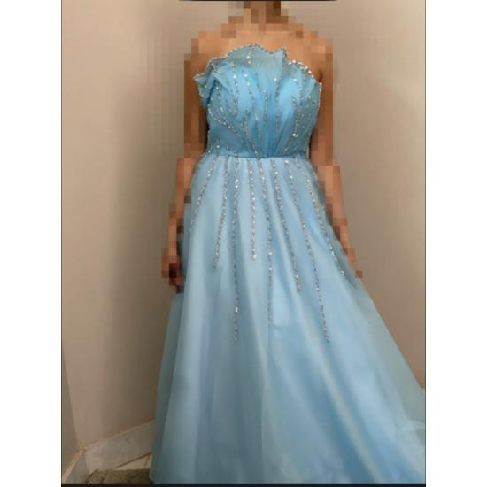 فستان عروسة شبكة او سهرة